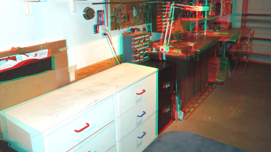 3D Anaglyph Arts & Crafts Space