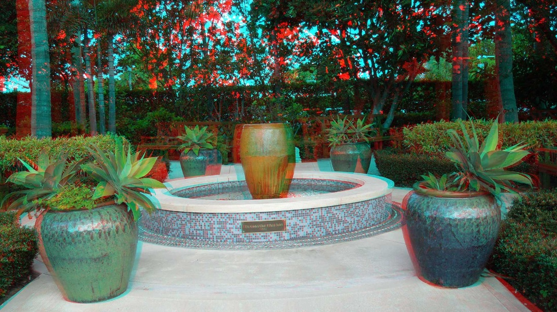 3D Anaglyph The Garden Club of Palm Beach